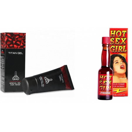 Pachet Crema Marirea Penisului Titan Gel Original 50ml + Afrodisiac Hot Sex Girl 20ml