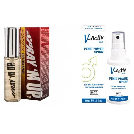 Pachet Spray V-activ Penis Power For Men 50ml + Spray Erectie Spray M-Up 22ml