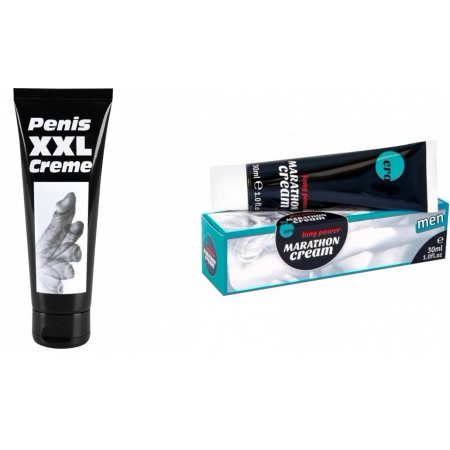 Pachet Crema Erectie Penis XXL 80ml + Penis Marathon Long Power Creme 30ml
