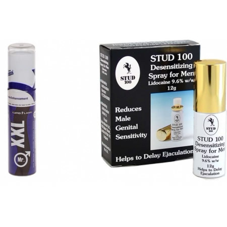 Pachet Spray Stud 100 Original + Gel Marirea Penisului Mr XXL Gel 50ml